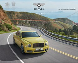 Bentley offers in the Bentley catalogue ( More than a month)