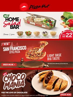 Restaurants offers in the Pizza Hut catalogue in Abu Dhabi