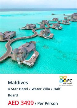 Travel & Leisure offers in the AFC Holidays catalogue in Ajman ( 14 days left )