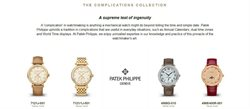 Patek Philippe offers in the Dubai catalogue