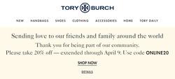 Tory Burch coupon ( 3 days left )