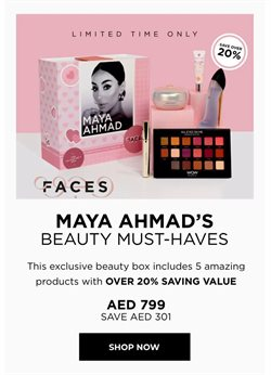 Department Stores offers in the Faces catalogue in Abu Dhabi ( More than a month )