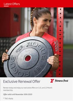 Sport offers in the Fitness First catalogue ( 4 days left )