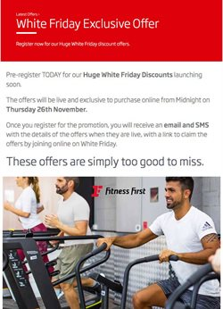 Sport offers in the Fitness First catalogue ( Published today )