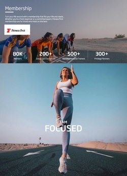 Fitness First offers in the Fitness First catalogue ( 5 days left)