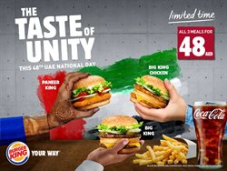 Restaurants offers in the Burger King catalogue in Abu Dhabi