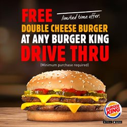 Restaurants offers in the Burger King catalogue in Al Ain ( 11 days left )