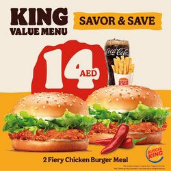 Restaurants offers in the Burger King catalogue ( 5 days left)