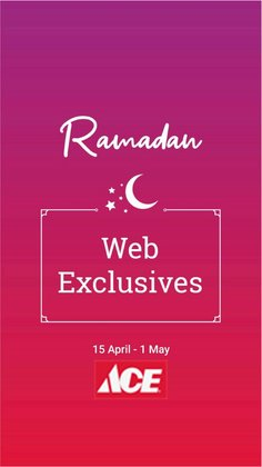 Ramadan offers in the Ace catalogue ( Published today)