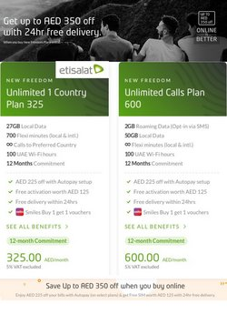 Etisalat offers in the Etisalat catalogue ( 6 days left)