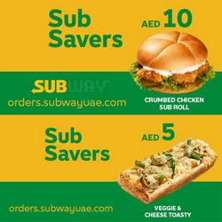 Restaurants offers in the Subway catalogue ( 19 days left)