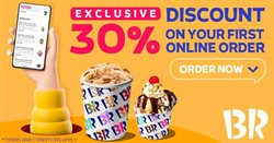 Restaurants offers in the Baskin Robbins catalogue in Sharjah ( 25 days left )