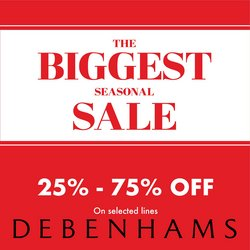Clothes, Shoes & Accessories offers in the Debenhams catalogue ( Published today)