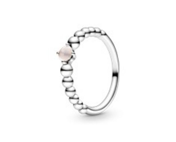 Misty Rose Beaded Ring offers at 225 Dhs
