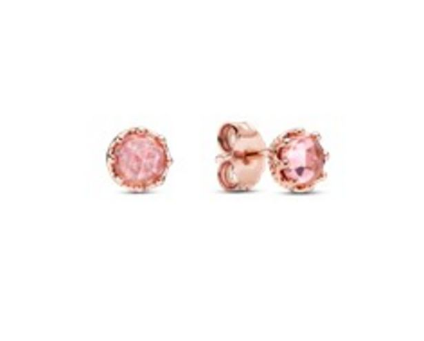 Pink Sparkling Crown Stud Earrings offers at 295 Dhs