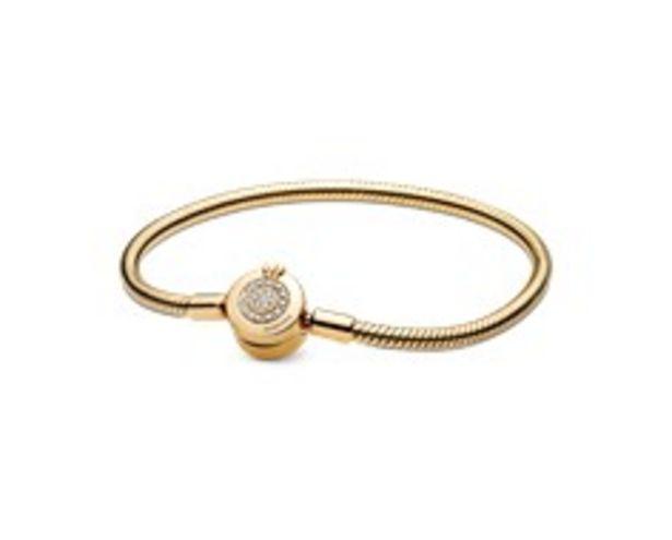 Pandora Moments Sparkling Crown O Snake Chain Bracelet offer at 995 Dhs