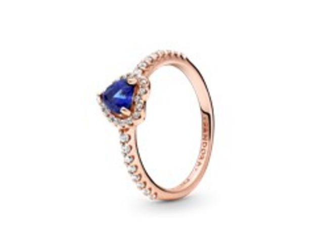 Sparkling Blue Elevated Heart Ring offer at 445 Dhs