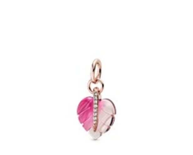 Pink Murano Glass Leaf Pendant offers at 295 Dhs