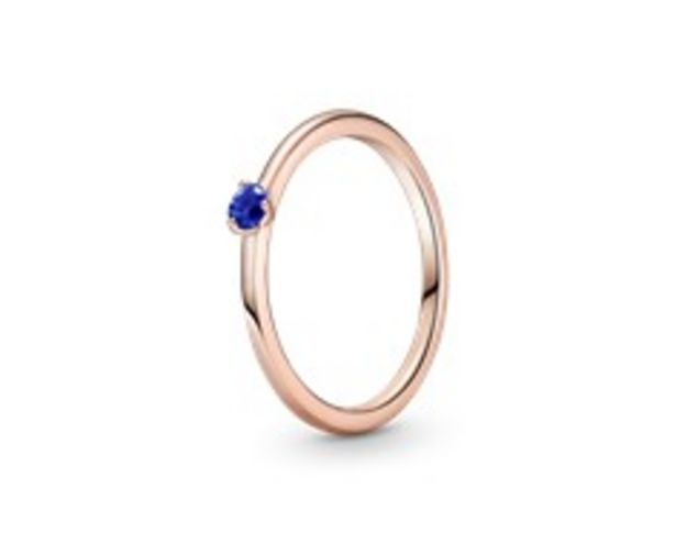 Stellar Blue Solitaire Ring offers at 195 Dhs