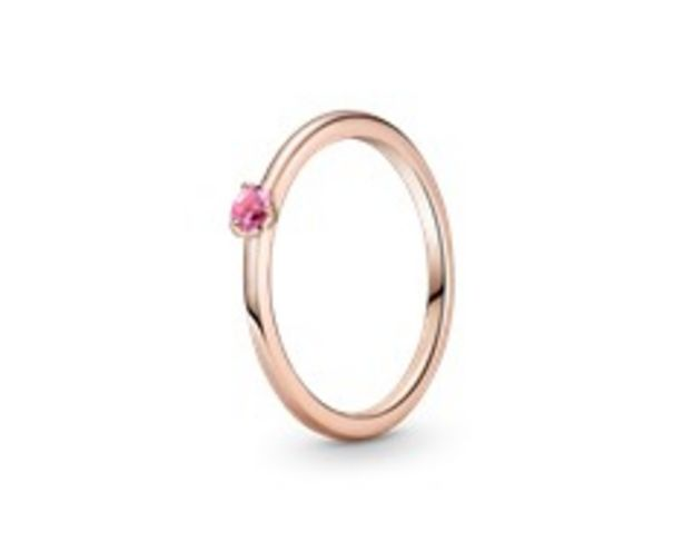 Pink Solitaire Ring offer at 195 Dhs