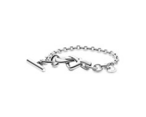 Knotted Heart T-Bar Bracelet offer at 495 Dhs