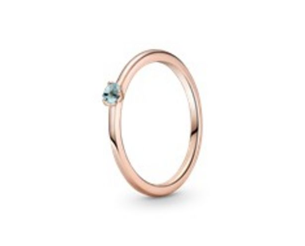 Light Blue Solitaire Ring offers at 195 Dhs