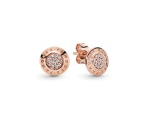 PANDORA Rose stud earrings with clear cubic zirconia offers at 395 Dhs