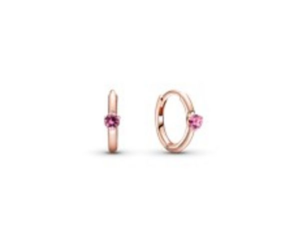 Pink Solitaire Huggie Hoop Earrings offers at 245 Dhs