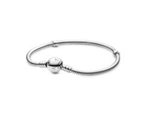 Disney, Pandora Moments Sparkling Mickey Mouse Snake Chain Bracelet offer at 395 Dhs