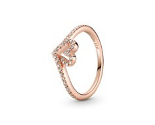 Sparkling Wishbone Heart Ring offers at 295 Dhs