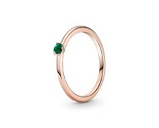 Green Solitaire Ring offers at 195 Dhs