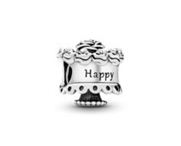 Birthday cake silver charm offers at 175 Dhs