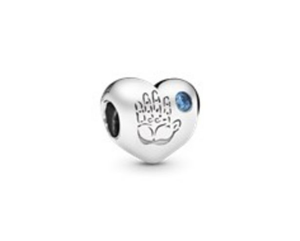 Baby boy silver charm with blue cubic zirconia offers at 195 Dhs