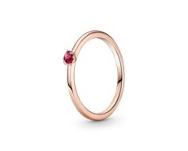 Red Solitaire Ring offers at 195 Dhs