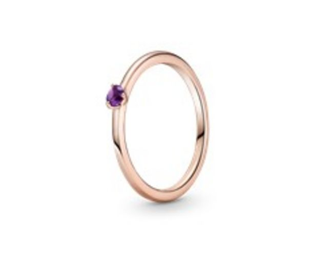 Purple Solitaire Ring offers at 195 Dhs
