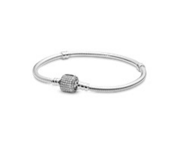 Moments Silver Bracelet, Signature Clasp offer at 395 Dhs