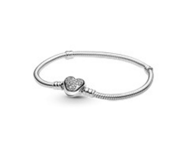 Disney Pandora Moments Mickey Mouse Heart Clasp Snake Chain Bracelet offer at 445 Dhs