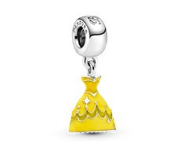 Disney Belle dress silver dangle with yellow enamel offer at 295 Dhs