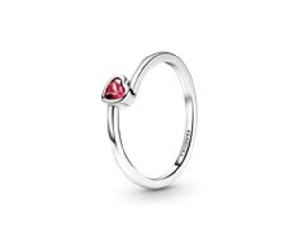 Red Tilted Heart Solitaire Ring offers at 195 Dhs