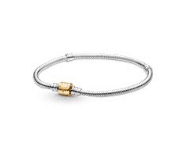 Pandora Moments Two-tone Barrel Clasp Snake Chain Bracelet offer at 1495 Dhs