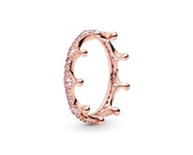 Pink Sparkling Crown Ring offer at 445 Dhs