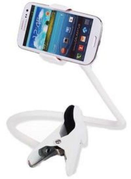 Generic - Mobile Holder Desktop Bed Lazy Bracket Mobile Stand White offers at 28,8 Dhs