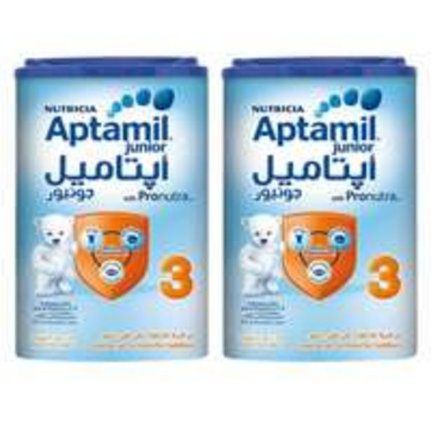 Aptamil Growing Up Stage 3 Milk Powder Junior 900g x2 offer at 109,3 Dhs