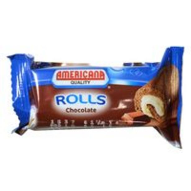 Americana Mini Roll Chocolate Cakes 20g offer at 1,25 Dhs