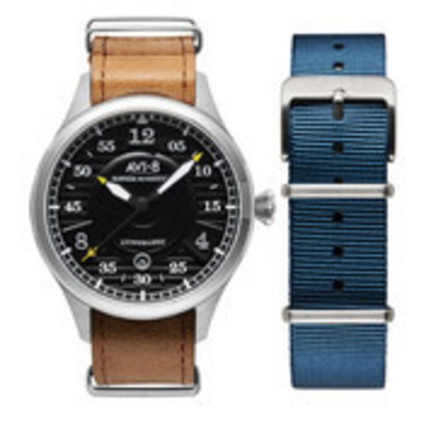 AVI-8 - Men's Hawker Hurricane Analog Display Japanese Automatic Watch with Leather Band  - AV-4046-01 offer at 1285 Dhs