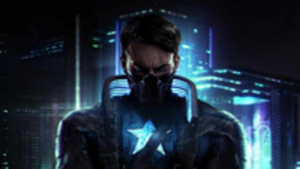 CanvasJet Captain America X Cyberpunk Wall Art Canvas Print Ready to Hang for Bedroom Home Office Decorations 100x56cm /3.5cm Deep offer at 310 Dhs