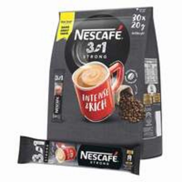 Nescafe 3In1 Intense Instant Coffee 20g x Pack of 30 offer at 36,8 Dhs
