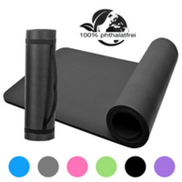 Esonmus-NBR Yoga Mat Closed-Cell Foaming Body Yoga Mat Non-slip Exercise Mat offer at 32 Dhs