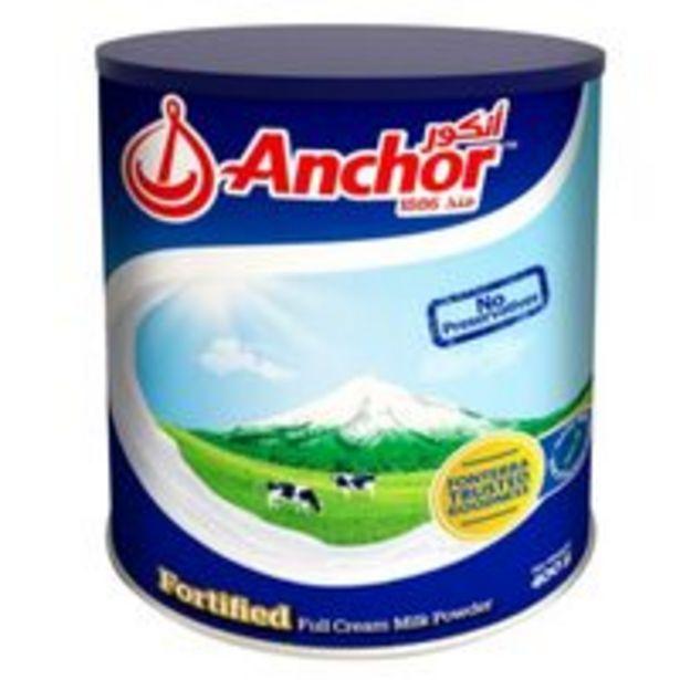Anchor Full Cream Milk Powder 400g offer at 13,5 Dhs