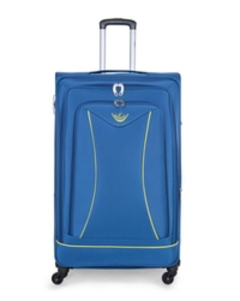 Senator Brand Softside Small Cabin Size 55 Centimeter (20 Inch) 4 Wheel Spinner Luggage Trolley in Blue Color LL032-20_BLU offer at 89 Dhs